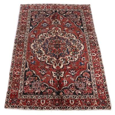 7'0 x 10'10 Hand-Knotted Persian Bijar Wool Rug