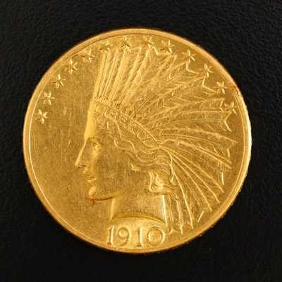 1910-D Indian Head $10 Gold Eagle
