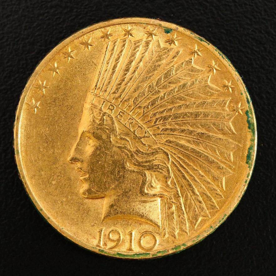 1910 Indian Head $10 Gold Eagle