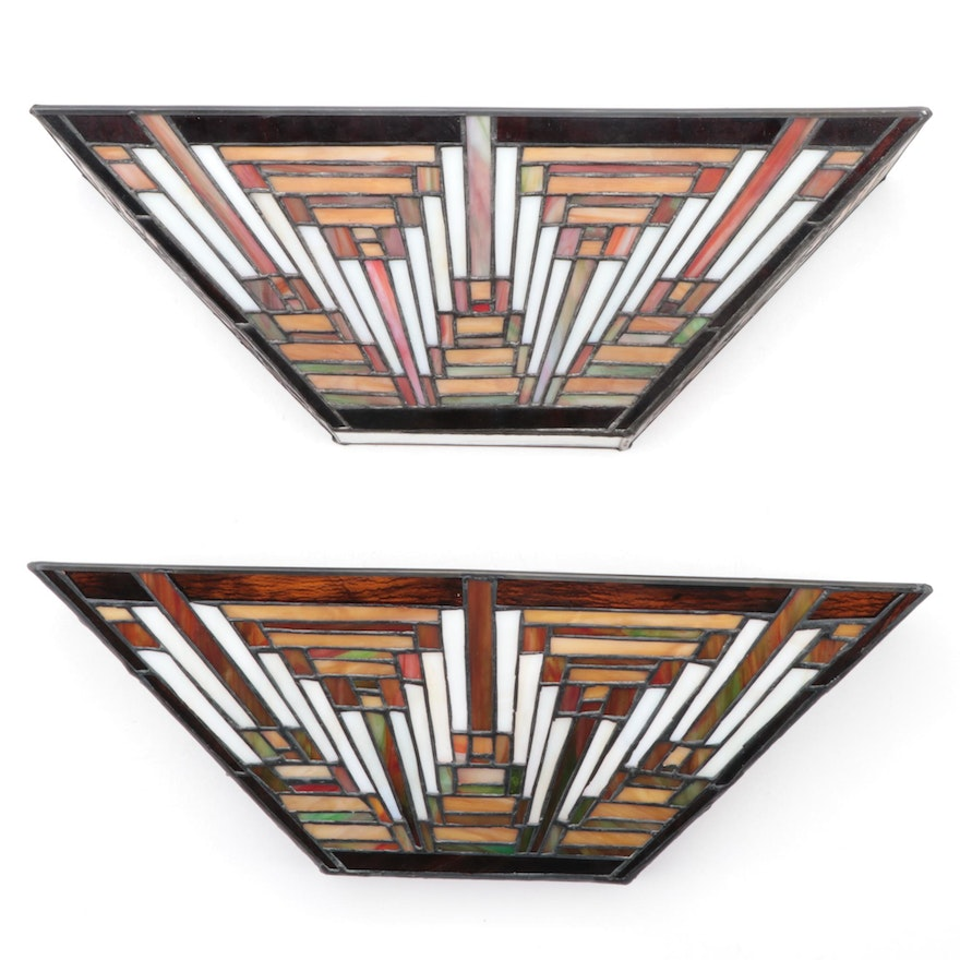 "Prairie Style Quoizel Collectibles ""Tapestry"" Two-Light Pocket Wall Sconces"