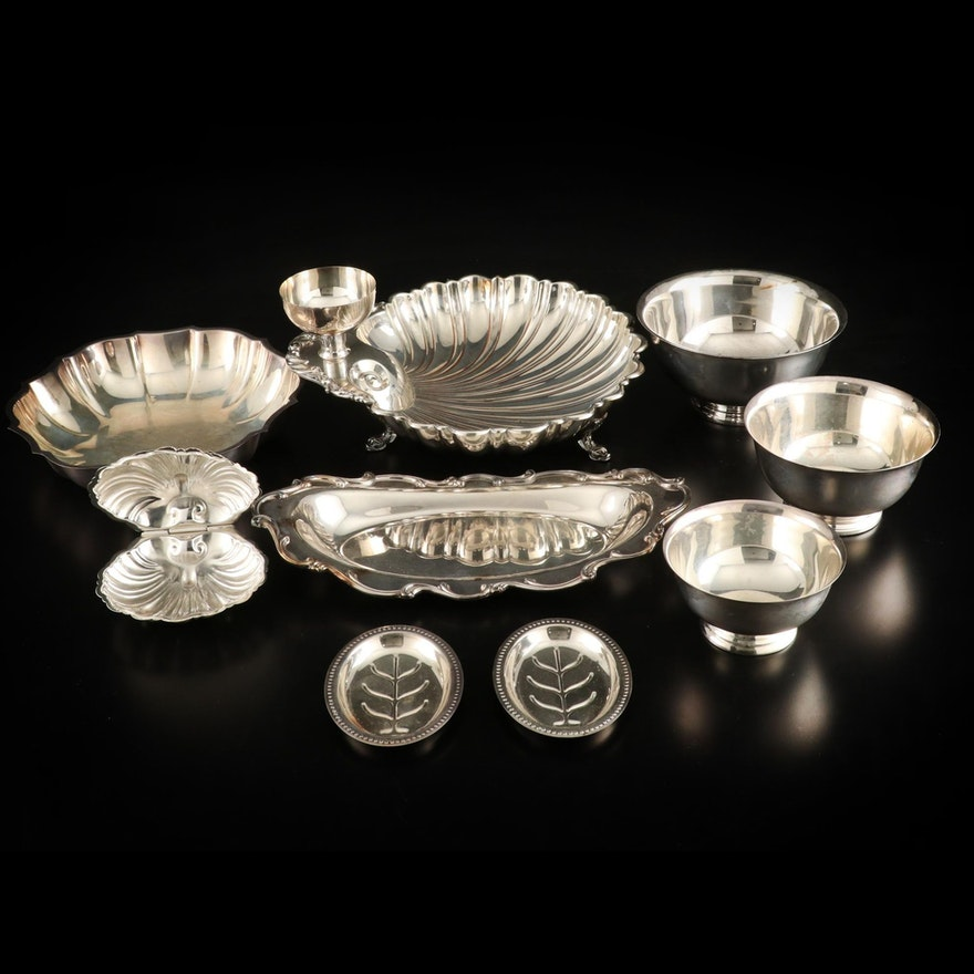 Silver Plated Baroque Style Tableware, Mid to Late 20th Century