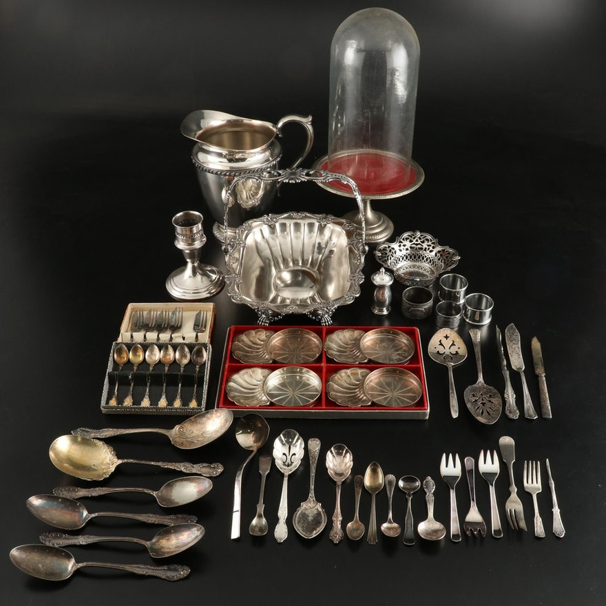 Silver Plated Flatware and Other Table Accessories, Early to Mid 20th Century