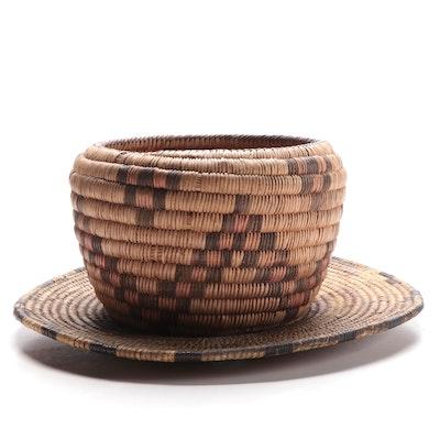 Tohono O'odham or Hopi Coiled Grass Baskets, 20th Century
