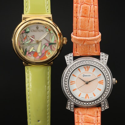Croton and Genevex Quartz Wristwatches