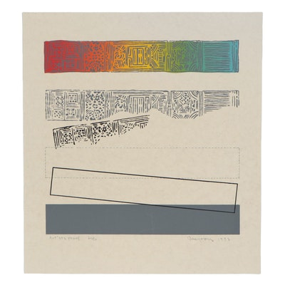 Bae Yoong Abstract Serigraph, 1972