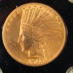 1915 Indian Head $10 Gold Eagle