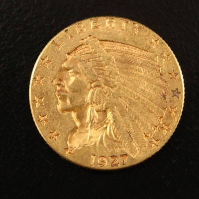 1927 Indian Head $2.50 Gold Quarter Eagle