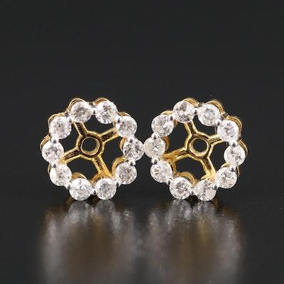 10K 1.00 CTW Diamond Earring Jackets