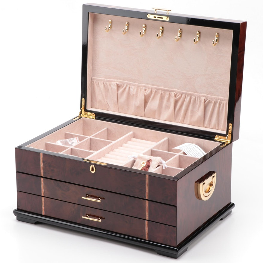 Jere Lacquered Wooden Jewelry Box