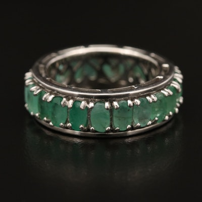 Sterling Silver Emerald Spinner Ring