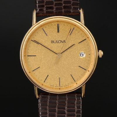 1984 Bulova Gold Tone Quartz Wristwatch