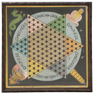 "Gotham ""Ching-Ka-Chek"" Chinese Checkers Game Board in Later Frame"
