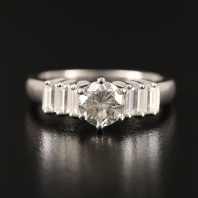 14K 1.89 CTW Diamond Ring with GIA Report