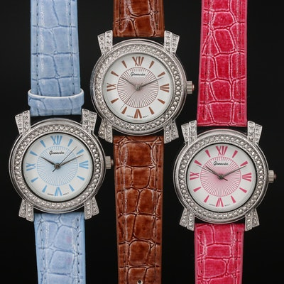 Three Genevex Quartz Wristwatches