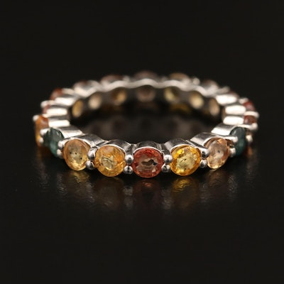 Sterling Silver Sapphire Eternity Band