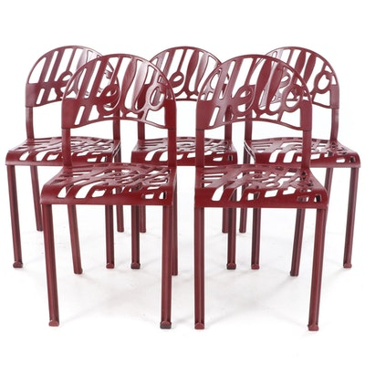 "Set of Five Jeremy Harvey for Artifort ""Hello There"" Dining Chairs, circa 1970"