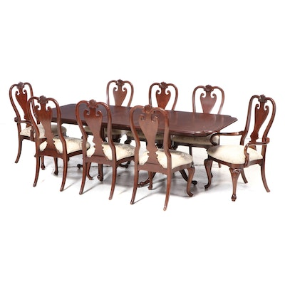 Kincaid Queen Anne Style Mahogany Expandable Dining Table and Chairs