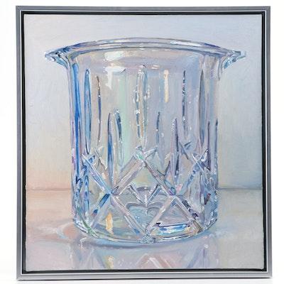 Ray Kleinlein Oil Painting of Glass Tumbler, 21st Century