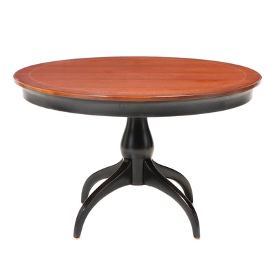 "Thomasville ""Cinnamon Hill"" Mahogany Top Expandable Breakfast Table"