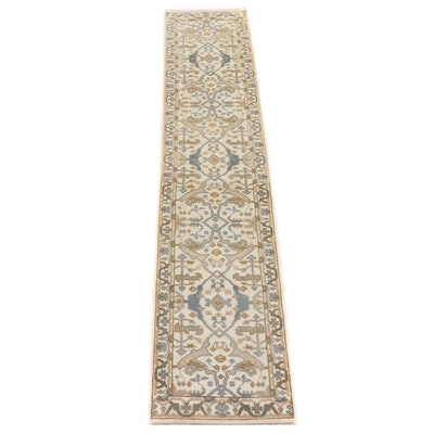 2'6 x 12' Hand-Knotted Indo-Turkish Oushak Carpet Runner