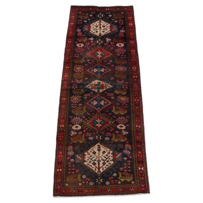 3'3 x 10'5 Hand-Knotted Caucasian Akstafa Wool Carpet Runner