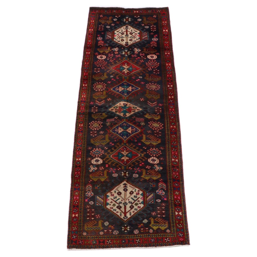 3'3 x 10'5 Hand-Knotted Caucasian Akstafa Wool Carpet Runner