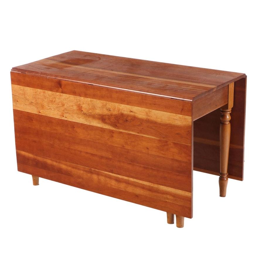 American Primitive Maple Gate-Leg Dining Table, Mid-20th Century