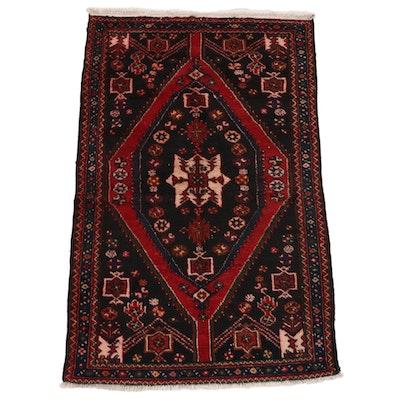 3'7 x 5'9 Hand-Knotted Persian Zanjan Area Rug, circa 1970s