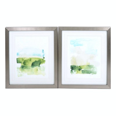"Minimalist Style Giclées ""Liquid Valley V"" and ""Liquid Valley VI"""