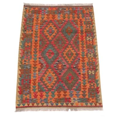 3'5 x 5'1 Handwoven Caucasian Turkish Kilim Area Rug, circa 2010s