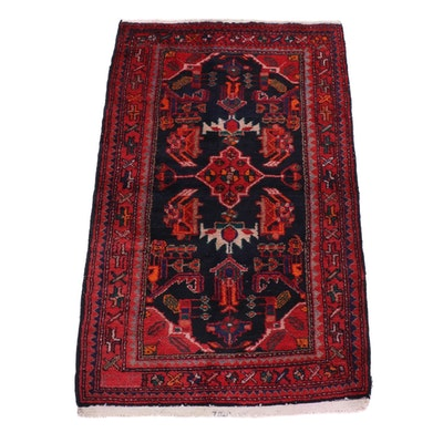 2'9 x 4'6 Hand-Knotted Persian Zanjan Rug, circa 1960s