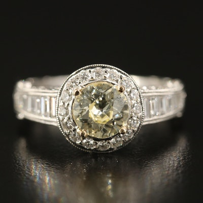 18K 2.45 CTW Diamond Ring with GIA Report