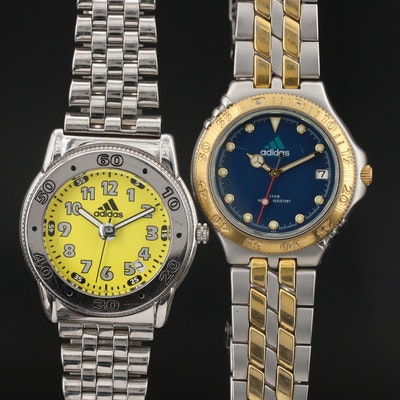 Pair of Adidas Quartz Sports Watches