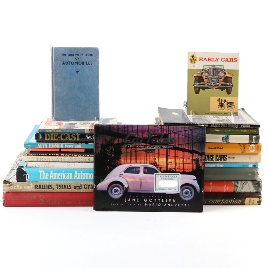 """Automobile History Books Including """"Early Cars"""", """"Motoring History"""" and More"""