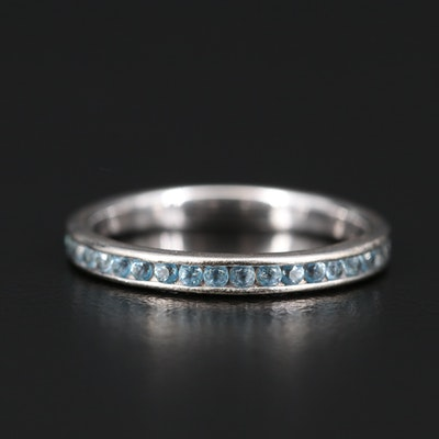 14K Channel Set Zircon Eternity Band