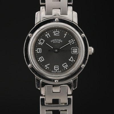 Hermès Clipper Stainless Steel Quartz Wristwatch
