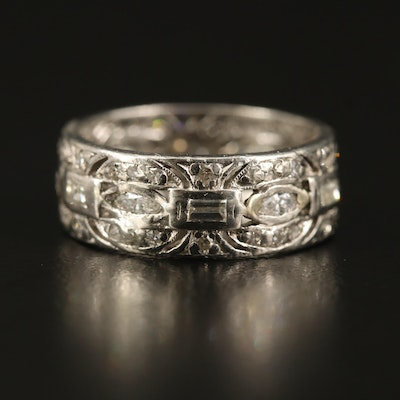 Platinum 1.38 CTW Diamond Band
