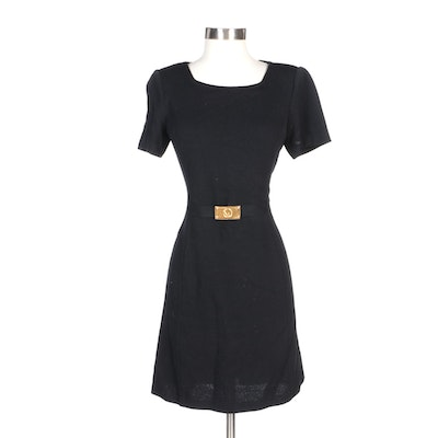 St. John Collection by Marie Gray Black Knit Dress