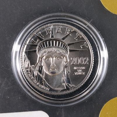 2002 Low Mintage $10 Platinum Eagle