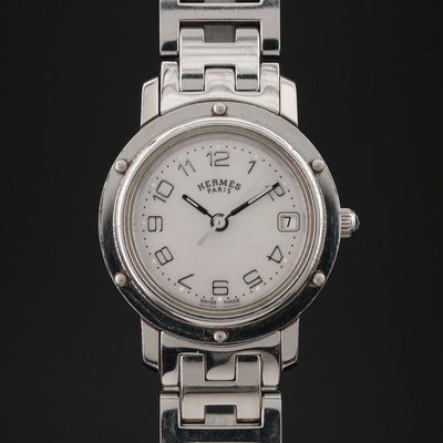 Hermès Clipper Stainless Steel Quartz Wristwatch