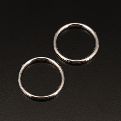 18K White Gold Bands