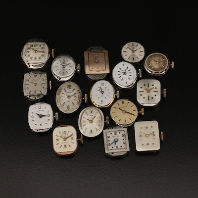 Sixteen Various Watch Movements