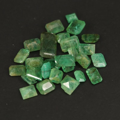 Loose 10.68 CTW Rectangular and Square Faceted Emeralds