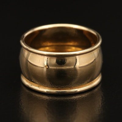 14K Yellow Gold Cigar Band