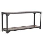Pottery Barn Rustic Wood and Metal Frame Sofa Table