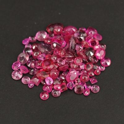 Loose 12.61 CTW Mixed Cut Rubies