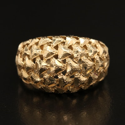 14K Domed Openwork Ring