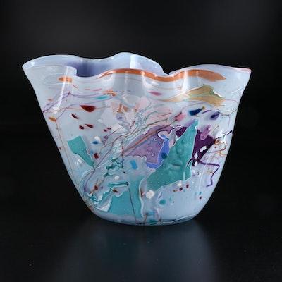 Stephen Rich Nelson Art Glass Vase, 1989