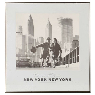 """Offset Lithograph Poster after Norman Parkinson """"New York, New York"""""""