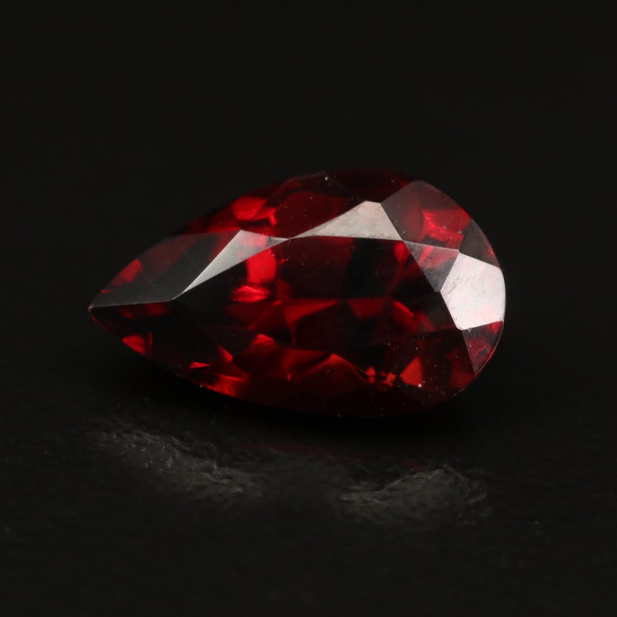 Loose 4.24 CT Pear Faceted Garnet